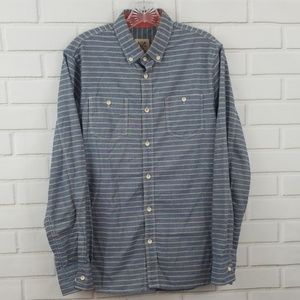 Howe Striped Cotton Button Down Shirt
